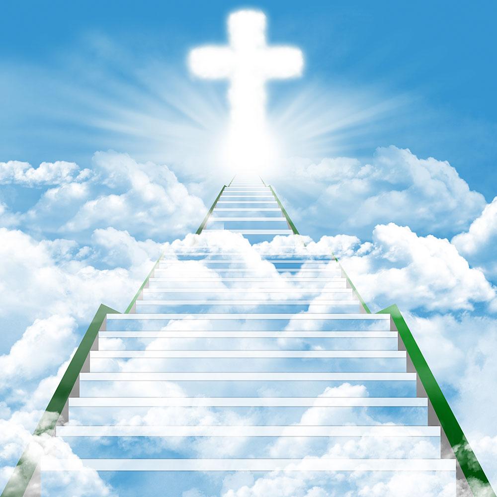 escalier céleste et la croix